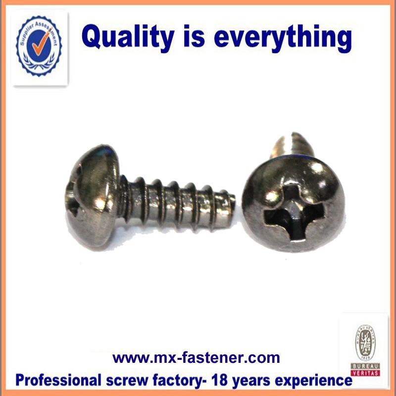 metric truss black nickel plating round head the best screws for plastic