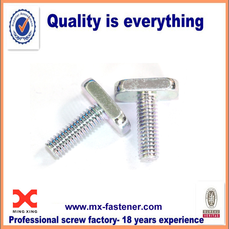 Class 8 8 Chamfer Rectangle Head Screw With Zinc Plated