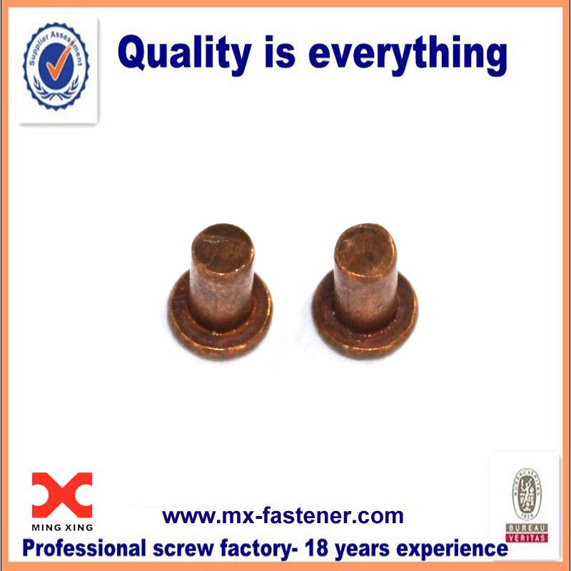 Copper rivets flat head solid rivet