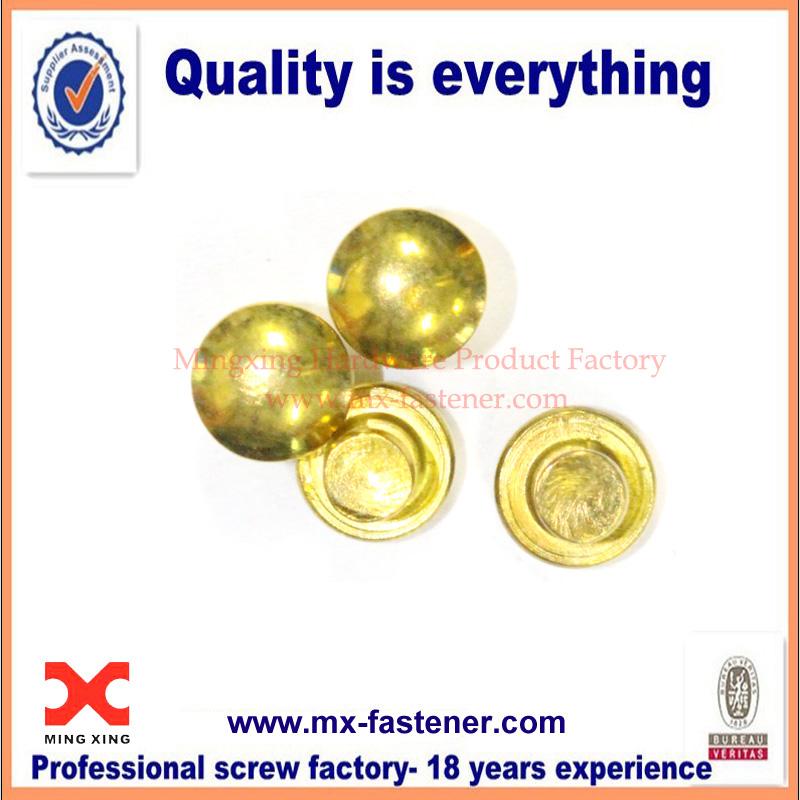 Brass solid rivet fastener