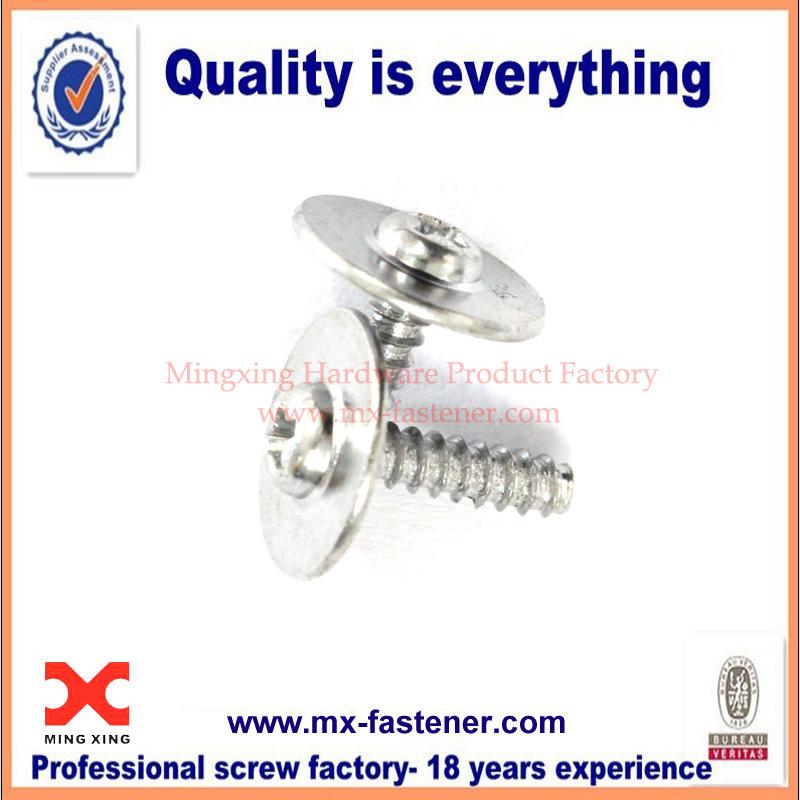 Galvanized round washer head screws