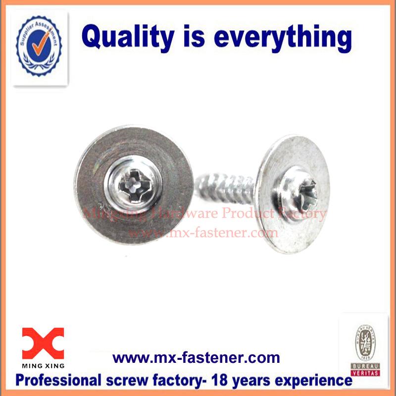Galvanized round washer headed screws