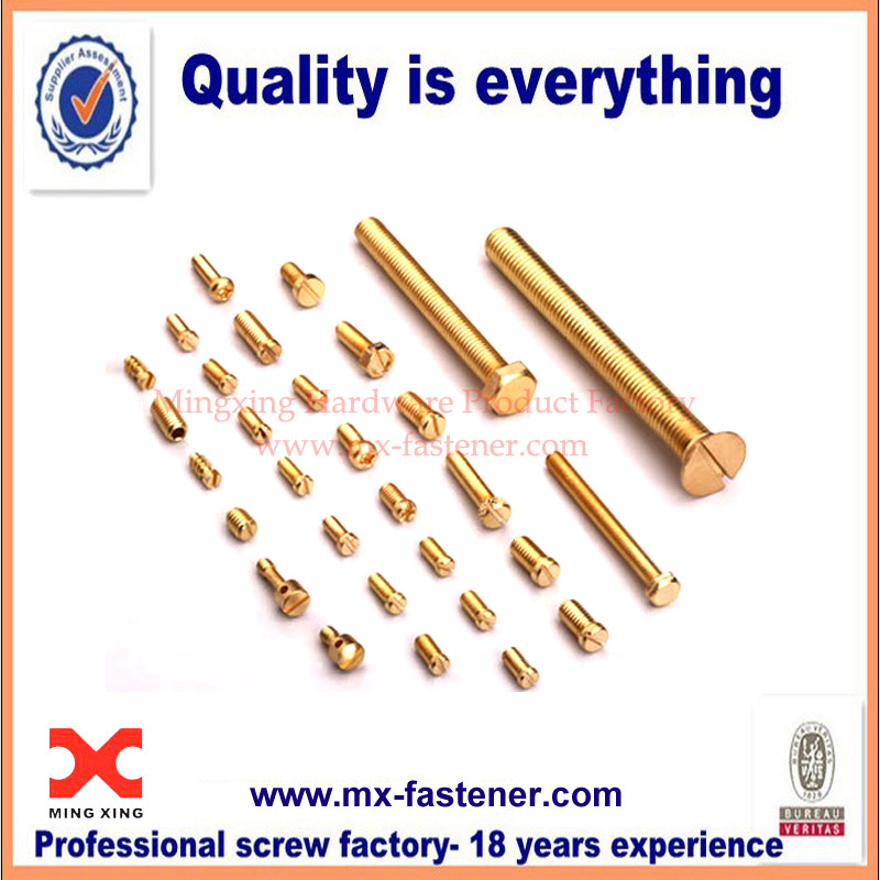 Brass screws and brass bolts for sale