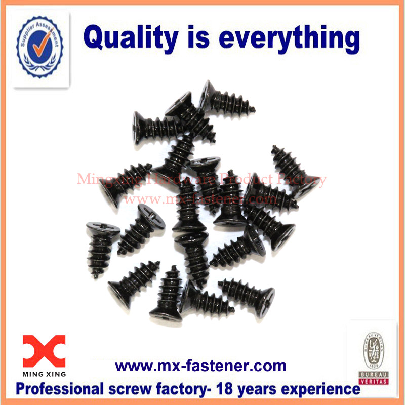 M1.7 countersunk black oxide screw for electronics