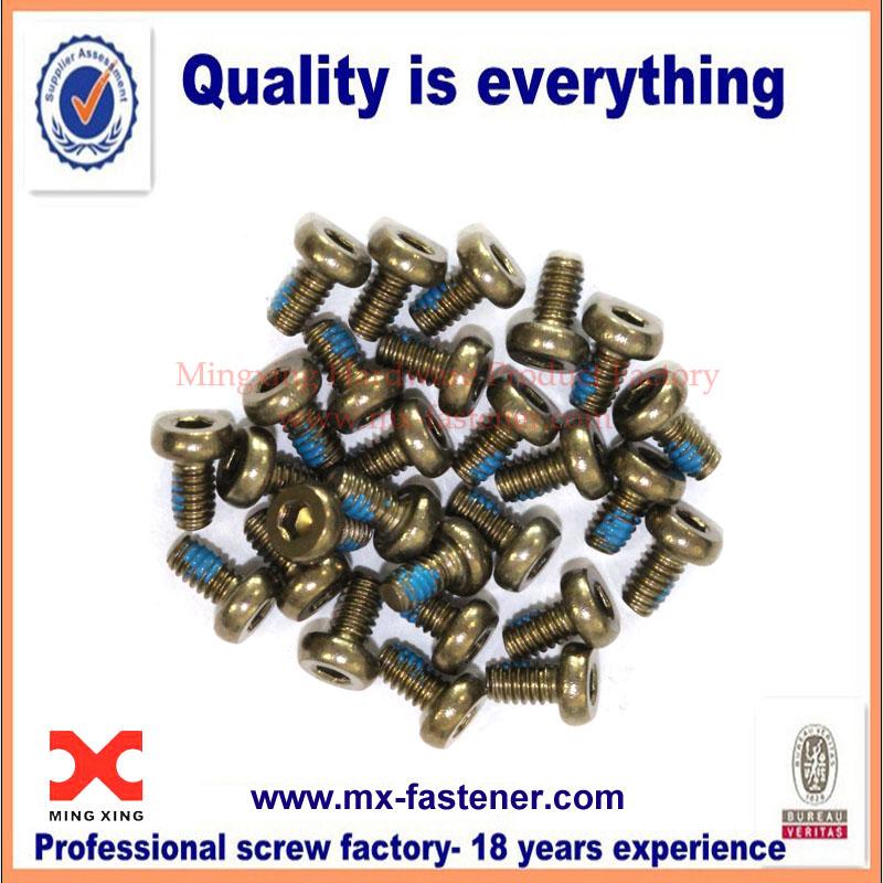Mini nylon patch screws for electronics