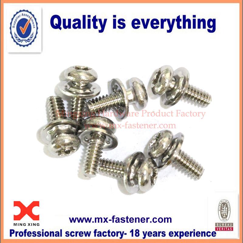 Stainless steel torx head allen spring washer screw