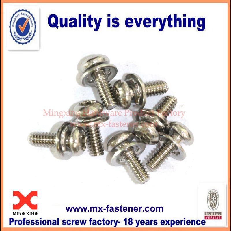 Stainless steel torx head allen spring washer screws
