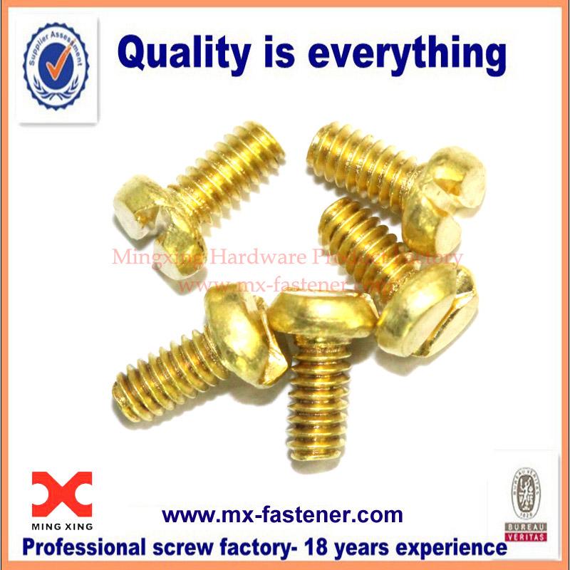 Brass coating screw used on electronics