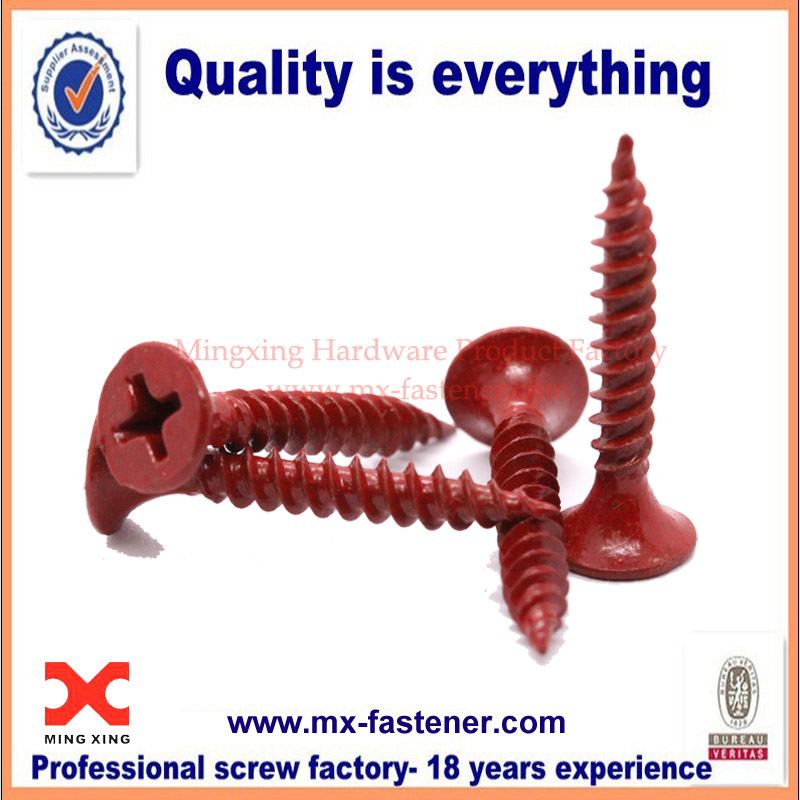 Cross countersunk tapping colored screw