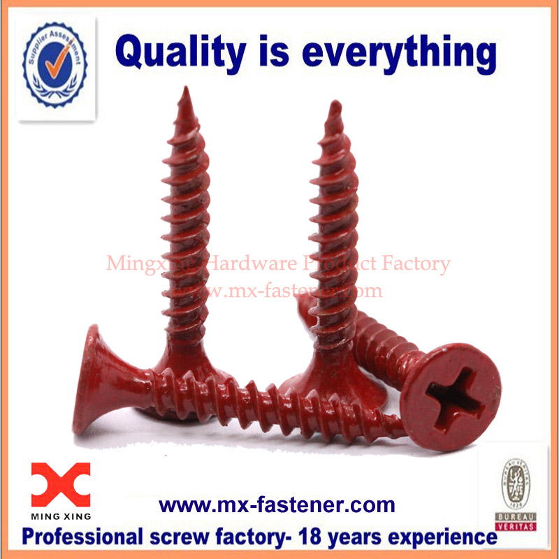 Cross countersunk tapping colored screws