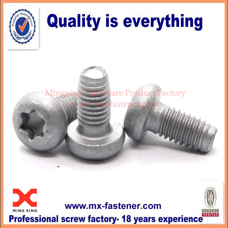 Dacromet pan screws torx drive