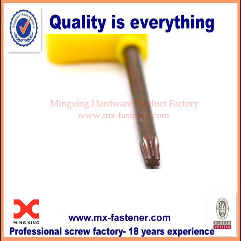 Flag torx key custom made hard yellow